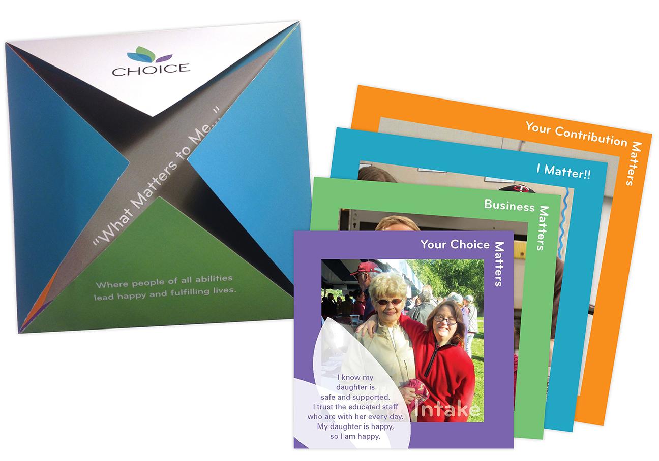 image of custom folder brochure and step sheets